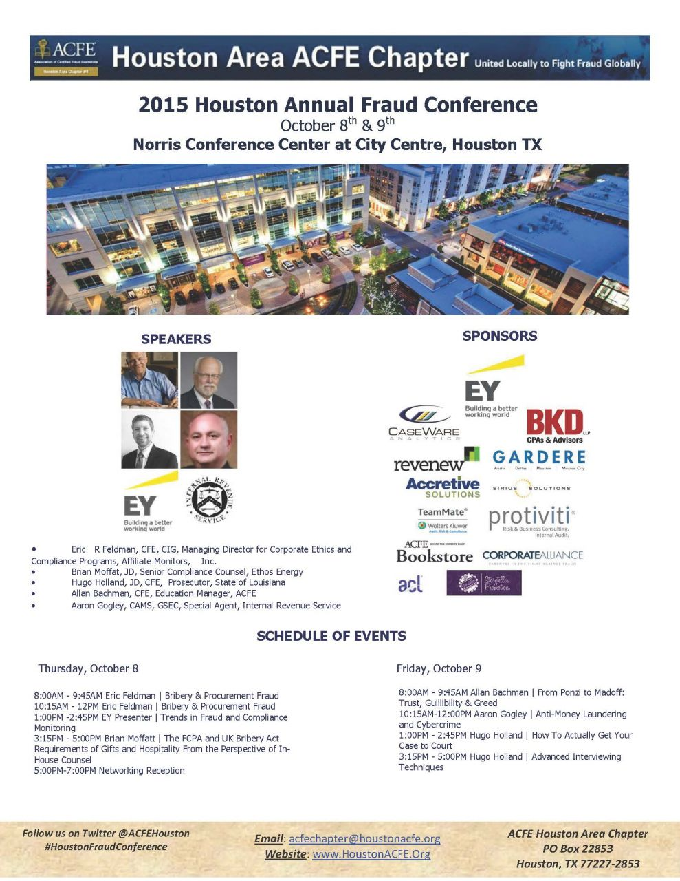 Houston Area ACFE Chapter - 2015 Fraud Conference