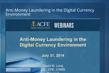 ACFE免費網路線上課程 (價值$149 美元): 「在數位貨弊環境下的反洗錢作法」
