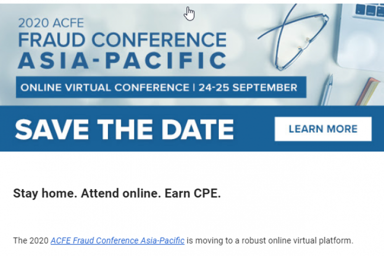 2020 ACFE FRAUD CONFERENCE ASIA PACIFIC